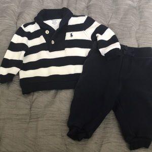 Ralph Lauren striped cotton two piece set